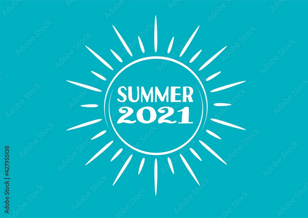 Fototapeta sunny summer 2021