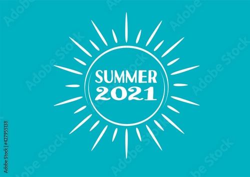 Fototapeta sunny summer 2021 obraz