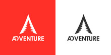 Mountain Forrest Illustration, Outdoor Adventure . Vector Graphic For T Shirt And Other Uses.