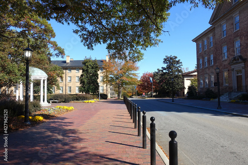 Canvas-taulu Street running through the main campus of University of North Carolina in Chapel