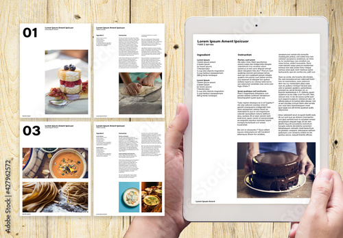 Digital Recipe Sheets Layout