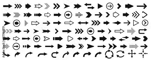 Obraz na plátně Arrow icon. Mega set of vector arrows
