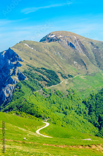 Fotografering Fragment of a nice mountain view from the trail at Monte Baldo in Italy