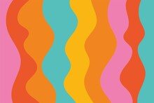 Abstract Colorful Psychedelic Groovy Background