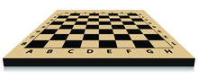 Realistic Chess Board. Empty Chess Board. 3D Chessboard Vector Illustration.