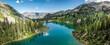 Leinwandbild Motiv Beautiful alpine lake in the Wasatch mountains in Salt Lake, Utah, USA