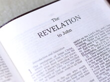 The Revelation Of Jesus Christ Our Savior To Apostle John. End Time True Prophesy. Open Holy Bible Book Scriptures Last Chapters.