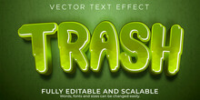 Editable Text Effect, Trash Rubbish Text Style