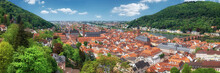 Beautiful Germany, Panoramic Image Of Heidelberg In Spring