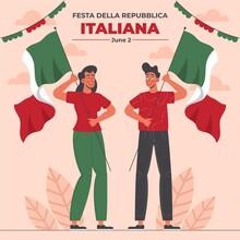 Organic Flat Festa Della Repubblica Illustration_2