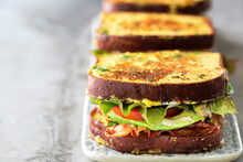 French Toast B.L.A.T Bacon Lettuce And Tomato Toastie