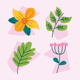 four spring icons