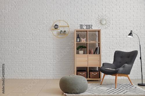 Obraz na plátně Stylish interior of modern living room