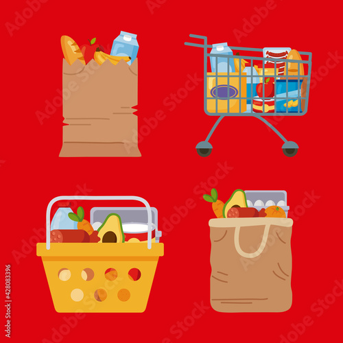 shopping groceries market