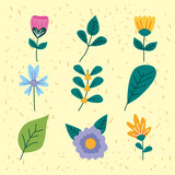 nine spring icons