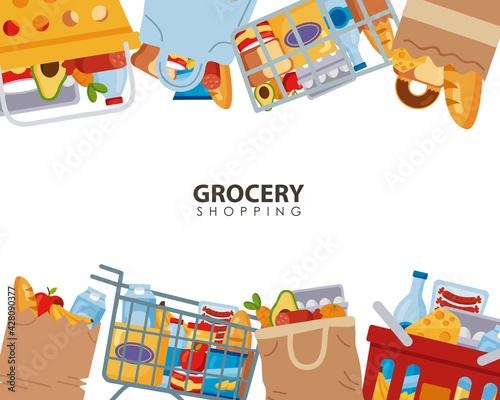 groceries supermaket frame
