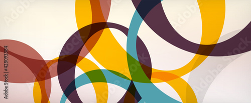 Ring geometric shapes, o letter repetition wallpaper. Abstract background for business or technology presentations, internet posters or web brochure covers