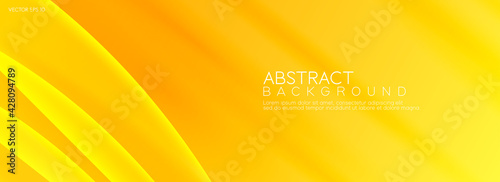 Foto Abstract yellow background with waves stripes