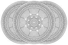Vector Indian Mandala Ethnic Design