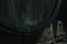 Old Wooden Oak Barrel