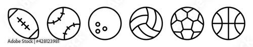 Fototapeta Sport balls vector icons set
