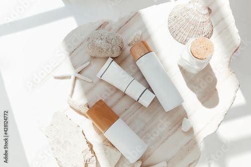 Fotografie, Obraz Cosmetic supplies near sea minerals
