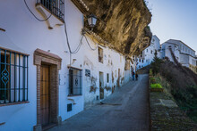 The Cliff Dwellings (troglodyte Houses) That Made Setenil De Las Bodegas A Very Famous White Village (pubelo Blanco) Of Andalusia (Spain)