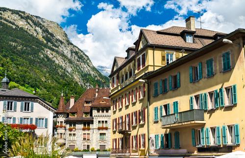 Canvas-taulu Architecture of Brig in Switzerland