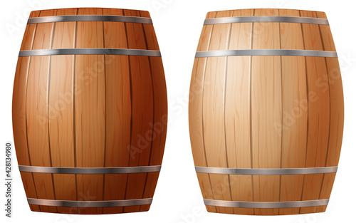 Fotografie, Tablou Cask in two colors isolated on white background