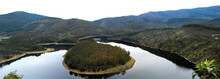 Panoramic View Of The Meander Of The Melero In Las Hurdes, Extremadura, Spain