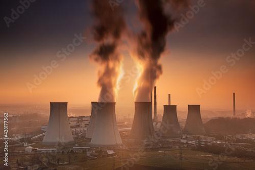 Obraz Elektrownia - fototapety do salonu