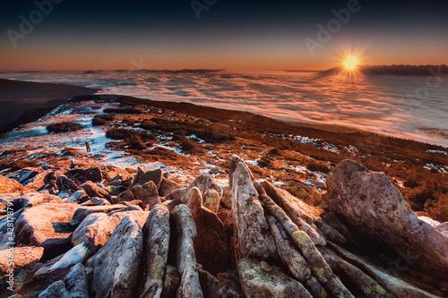 Babia Góra - Beskidy - fototapety na wymiar