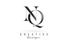 NQ N Q Letter Design Logo Logotype Concept With Serif Font And Elegant Style Vector Illustration.
