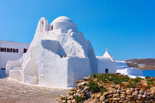 Panagia Paraportiani Church In Mykonos Island