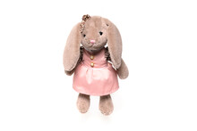 Stuffed Rabbit Toy Isolated On White Background