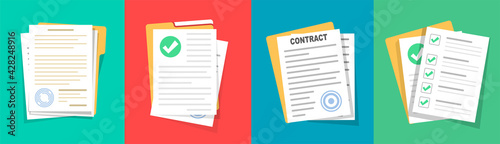 Foto Contract or document signing icon
