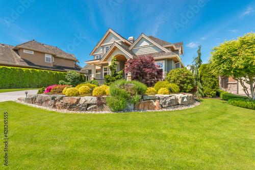 Luxury house in Vancouver, Canada against blue sky - fototapety na wymiar