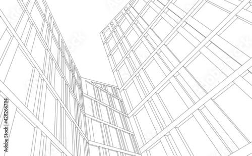 Billede på lærred abstract architecture building