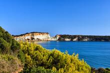 Rocky Cliff At Gerakas Beach On Zakynthos Island