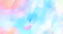 Watercolor Abstract Painting With Pastel Colors. Soft Color Painted Illustration Of Calming Composition For Poster, Wall Art, Banner, Card, Book Cover Or Packaging. Modern Brush Strokes Painting.
