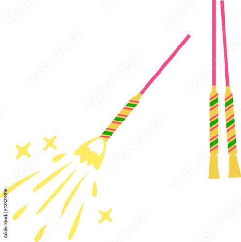 Fotografia, Obraz 点火した手持ち花火と点火前の花火