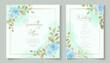 Elegant floral wedding invitation design with beautiful floral