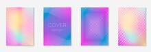Set Brochure As Minimalist Trendy Cover. Line Geometric Element.