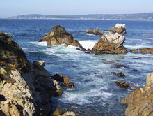 Gorgeous Shot Of The Sea And Some Rocks At Point Lobos State Natural Reserve Carmel USA. California
