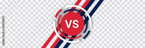 Versus isolated logo. Battle vs match, game vector template. - fototapety na wymiar