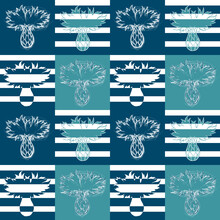 Blue Cornflowers Pattern