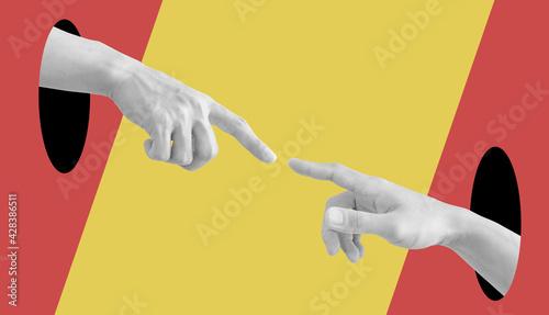 Canvas Digital collage modern art