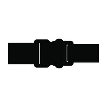 Buckle Icon. Backpack Buckle Vector. Vector Illustration. Black Icon Isolated On A Blank Background. Can Be Edited And Changed Colors.