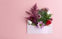 Flowers Inside An Envelope