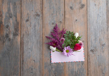Vintage Gift Envelope With Flowers